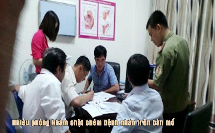Nhiều phòng khám chặt chém bệnh nhân trên bàn mổ