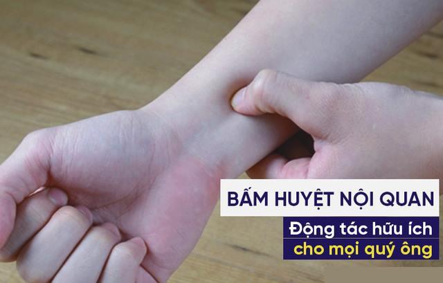 Bấm huyệt nội quan chống xuất tinh sớm ở nam giới