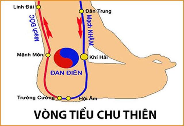 Huyệt hội âm trong vòng tiểu Chu Thiên
