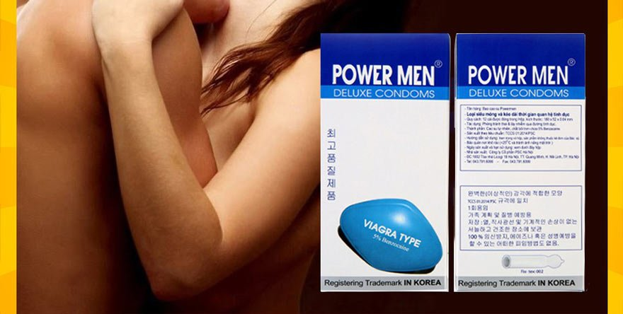 Bao cao su Power Men Viagra