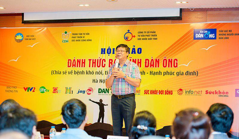 Tiến sĩ Đinh Đoàn tại hội thảo