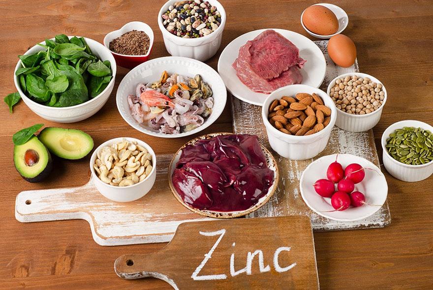 Zn có rất nhiều trong các món ăn tự nhiên